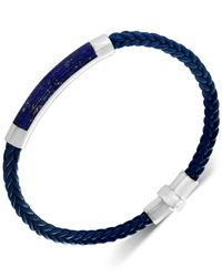 Effy Collection - Blue Lapis Lazuli Braided Leather Bracelet In Sterling Silver (also In Malachite, Agate & Tiger's Eye) - Lyst