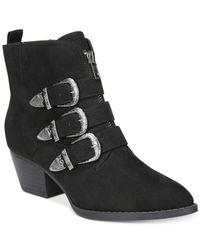 Carlos By Carlos Santana - Black Vance Round Toe Canvas Ankle Boot - Lyst