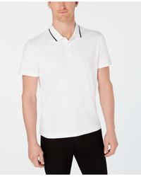 Alfani White Classic Fit Tipped Polo, Created For Macy's for men