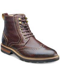 Florsheim Brown Kilbourn Wingtip Boots for men