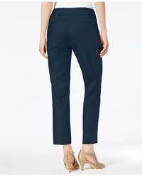 Charter Club Blue Straight-leg Ankle Pants, Created For Macy's