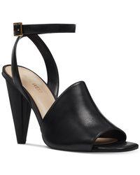 Nine West Black Quilty Dress Sandals