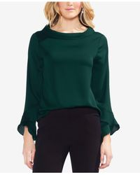 Vince Camuto - Green Plus Ruffle Long-sleeve Top - Lyst