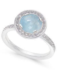 Thomas Sabo - Metallic Light Of Luna Milky Aquamarine Ring (1-5/8 Ct. T.w.) In Sterling Silver - Lyst