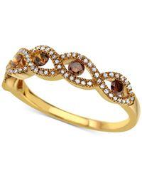 Macy's - Metallic Diamond Twist Ring (3/8 Ct. T.w.) In 14k Gold - Lyst