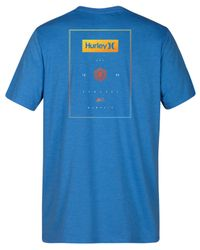 Hurley - Blue Stack Boxes Graphic T-shirt for Men - Lyst