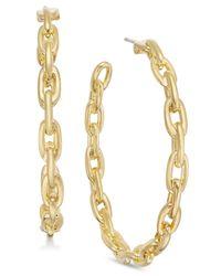 Kate Spade - Metallic Gold-tone Large Link Hoop Earrings - Lyst