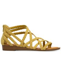 Carlos By Carlos Santana Amara Braided Flat Sandals Lyst