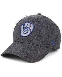 47 Brand Gray Milwaukee Brewers Flecked Mvp Cap for men