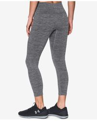 Under Armour - Gray Heathered Leggings - Lyst