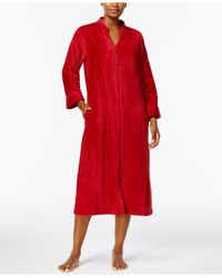 Miss Elaine | Red Brushed-fleece Robe | Lyst
