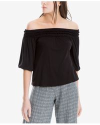 Max Studio Black Jersey Off-the-shoulder Top, Created For Macy's