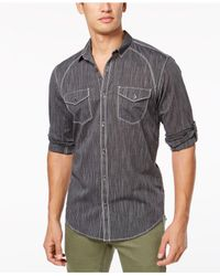 INC International Concepts - Black Vera Shirt, Created For Macy's for Men - Lyst