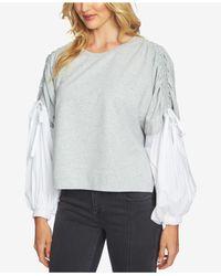 1.STATE - Gray Blouson-sleeve Sweatshirt - Lyst