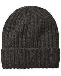 Polo Ralph Lauren - Gray Men's Chunky Ribbed Cuffed Hat for Men - Lyst