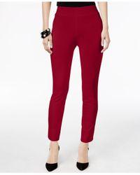 Eci Brown Pull-on Straight-leg Pants