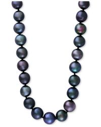 Effy Collection - Cultured Tahitian Pearl (10mm) Collar Necklace In 14k White Gold - Lyst