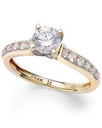 Macy's Metallic Diamond Engagement Ring In 14k White Gold Or 14k Gold (1 Ct. T.w.)