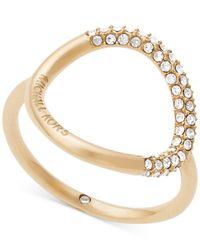 Michael Kors - Metallic Pavé Crystal Open Circle Statement Ring - Lyst