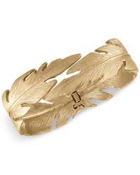 RACHEL Rachel Roy - Metallic Gold-tone Feather Hinged Bangle Bracelet - Lyst