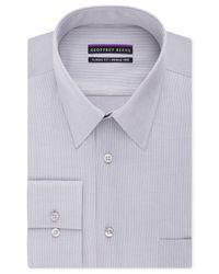 Geoffrey Beene Blue Men's Classic-fit Wrinkle Free Bedford Cord Dress Shirt for men
