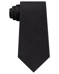 Michael Kors - Black Men's Unsolid Honeycomb Silk Tie for Men - Lyst
