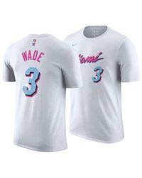 info for 33cb6 e5a79 Men's White Dwyane Wade Miami Heat City Player T-shirt