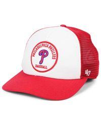 47 Brand Red Philadelphia Phillies Swell Trucker Mvp Cap for men