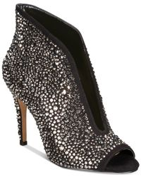 INC International Concepts Black I.n.c. Raeanne Ankle Booties, Created For Macy
