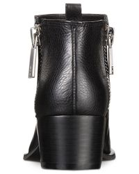Kenneth Cole Black Addy Zippered Booties