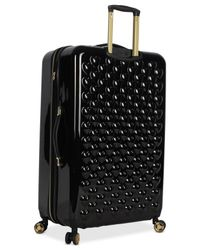 """Betsey Johnson - Black Heart To Heart 30"""" Hardside Expandable Spinner Suitcase - Lyst"""