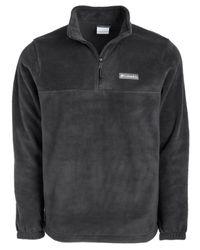 Columbia Black Steens 1/4 Zip Fleece for men