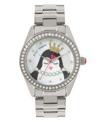 Betsey Johnson Metallic Penguin Motif Dial Watch
