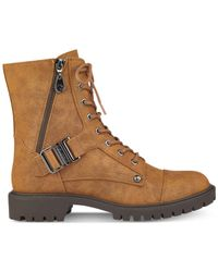 G by Guess | Brown Peeder Boots | Lyst