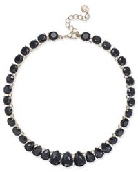 Charter Club - Black Gold-tone Jet Stone Necklace - Lyst
