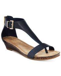 Kenneth Cole Reaction - Blue Great Gal Wedge Sandals - Lyst