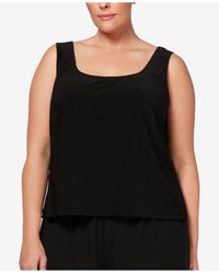 Alex Evenings - Black Plus Size Embroidered Jacket & Shell - Lyst