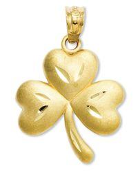 Macy's Metallic 14k Gold Charm, Shamrock Charm