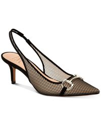 INC International Concepts Black Carynn Pointed-toe Kitten-heel Pumps, Created For Macy
