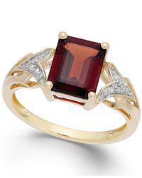 Macy's Metallic Garnet (2-1/2 Ct. T.w.) And Diamond Accent Ring In 14k Gold