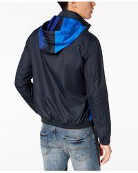 Armani Exchange Blue Colorblocked Windbreker for men