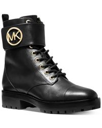 Michael Kors Black Michael Tatum Combat Boots