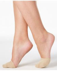 Hue - Natural Women's Toe Cover Socks With Grippers - Lyst