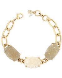 Lucky Brand - Metallic Gold-tone Rock Crystal Link Bracelet - Lyst