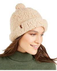 Timberland Multicolor Knit Sherpa Fleece Shallow Beanie