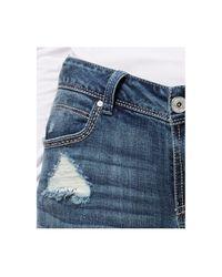 INC International Concepts Blue Petite Rip & Repair Skinny Jeans