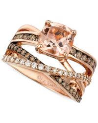 Le Vian - Pink Morganite (1-3/4 Ct. T.w.) And Diamond (3/4 Ct. T.w.) Ring In 14k Rose Gold - Lyst