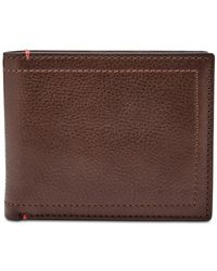 Fossil - Brown Men's Oliver Leather Passcase Wallet for Men - Lyst