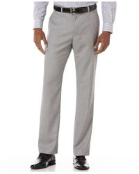 Perry Ellis Metallic Big And Tall Textured Linen-blend Pants for men