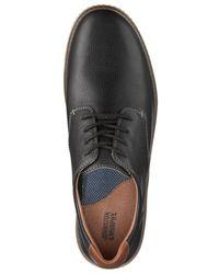 Johnston & Murphy Black Walden Blucher Lace-up Oxfords for men